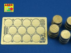 Aber 48A18: 1/48 German WWII 200l fuel drum covers