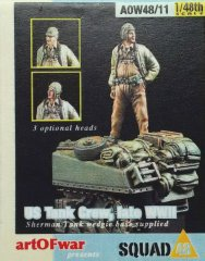 Art Of War 4811: 1/48 US Tank Crew w part Sherman base