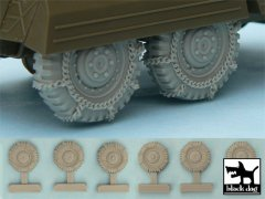 BlackDog T48042: 1/48 M8 / M20 Snowchained Wheels