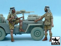 BlackDog T48056: 1/48 British SAS Jeep Crew Afrika (2 figures)