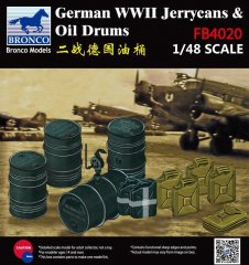 Bronco FB4020: 1/48 German WWII Jerrycans & Oil Drums