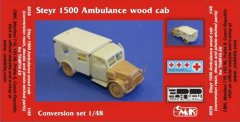 CMK 8036: 1/48 Steyr 1500 Ambulance Wood Cab conversion