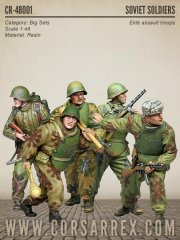 Corsar Rex 48001: 1/48 Soviet WW2 Elite Assault Troops, BIG SET