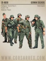 Corsar Rex 48018: 1/48 German WW2 Wehrmacht Soldiers, BIG SET