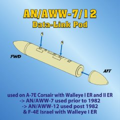Astra Resin ASR4805: 1/48 AN/AWW-7/12 Data-Link Pod