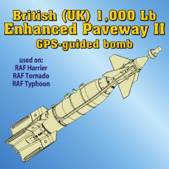 Astra Resin ASR4816: 1/48 UK 1000lb Enhanced Paveway II GPS