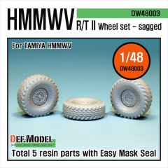 DEF Model DW48003: 1/48 HMMWV RT/II Sagged Wheels