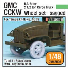 DEF Model DW48006: 1/48 US Army 2.5 ton Cargo Truck Sagged Wheels