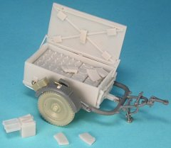 GasoLine GAS48107K: 1/48 Sd.Ah.51 Ammo Trailer conversion