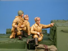 GasoLine GAS50309: 1/48 Russian infantrymen for T-34 NEW VERSION (2)