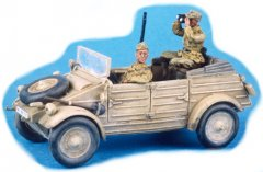 GasoLine GAS50313: 1/48 DAK officer and driver for Kubelwagen