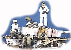GasoLine GAS50325: 1/48 German tank crew with winter-dressed Panzergrenadiers (4)