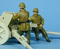 GasoLine GAS50328: 1/48 German crew for 75 mm PaK 40 set 1