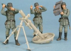 GasoLine GAS50355: 1/48 German crew for heavy mortar 120 mm Granatwerfer 42