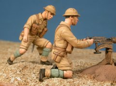GasoLine GAS50359: 1/48 Servants mitrailleuse Vickers crews (8th Army)