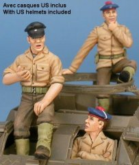 GasoLine GAS50379: 1/48 US / French crew for US M8 / M20