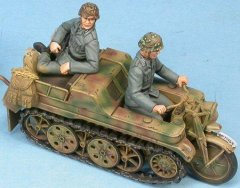 GasoLine GAS50380: 1/48 German crew for Kettenkraftrad