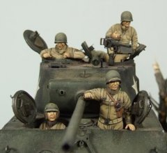 GasoLine GAS50386: 1/48 US tank crew Europe