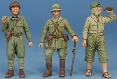 GasoLine GAS50388: 1/48 2 Japansese tank crew + mechanic