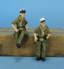 GasoLine GAS50403: 1/48 French tank crew Indochina / Algeria