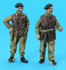 GasoLine GAS50409: 1/48 British Tank Crew with Jerkins