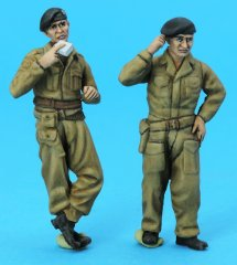 GasoLine GAS50411: 1/48 British Tank Crew in battledress
