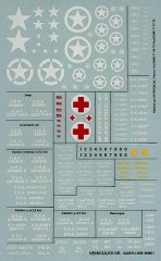 GasoLine GAS50901: 1/48 US WWII Utility Vehicle decals