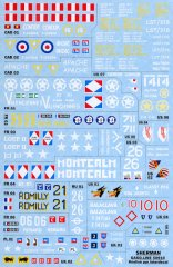 GasoLine GAS50910: 1/48 Sherman decals with booklet