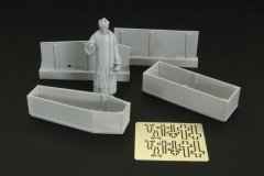 Hauler HLF48006: 1/48 Priest with Coffins