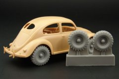 Hauler HLX48173: 1/48 4x4 wheels for VW type 82E Kafer