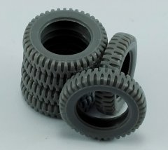 MP Originals A48008: 1/48 Spare Tires for Jeep Willys