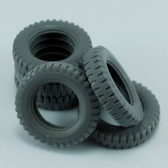 MP Originals A48009: 1/48 Spare Tires for German 3t 4X2 Truck