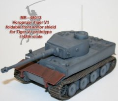 MR Modellbau MR-48013: 1/48 Vorpanzer experimental front armour shield for Tiger I