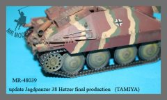 MR Modellbau MR-48039: 1/48 Hetzer idler wheel set, 4 variants, mid - late production