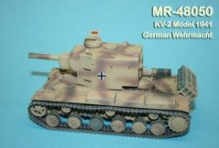 MR Modellbau MR-48050: 1/48 KV-2 Model 1941 Wehrmacht conversion w metal gun barrel