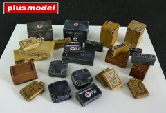 Plus Model 4023: 1/48 Ammo and Medical Containers - Germany WWII