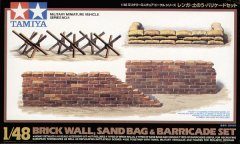 Tamiya 32508: 1/48 Brick Wall, Sand Bag & Barricade Set