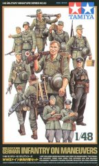 Tamiya 32530: 1/48 WWII German Infantry on Maneuvers (15)