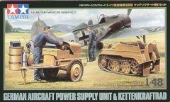 Tamiya 32533: 1/48 German Power Supply Unit & Kettenkrad w/3 Crew
