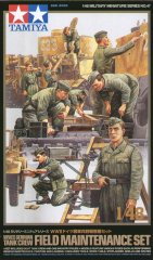 Tamiya 32547: 1/48 WWII German Tank Crew (9) & Field Maintenance Set