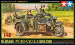 Tamiya 32578: 1/48 German Motorcycle with Sidecar