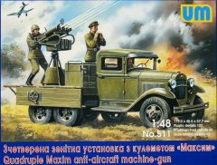 UM 511: 1/48 GAZ-AAA with Quad Maxim AA MG