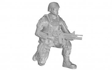 CMK F48331: 1/48 US Army Infantry Soldier on right knee