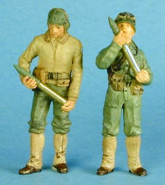GasoLine GAS50333: 1/48 US tank crew with brass shells