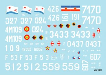 Star Decals 48B1001: 1/48 T-55A Tanks #1 Cold War