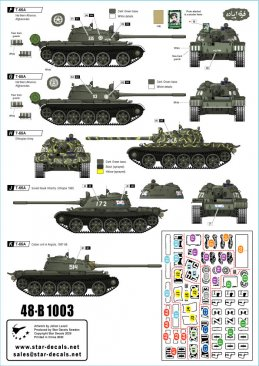 Star Decals 48B1003: 1/48 T-55A Tanks #3 War