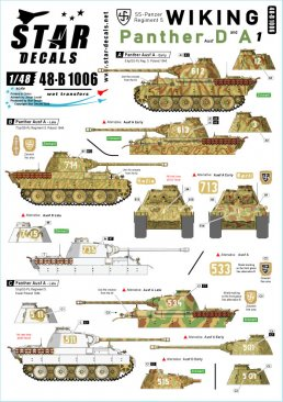 Star Decals 48B1006: 1/48 Wiking Panthers #1