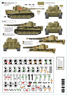 Star Decals 48B1008: 1/48 Afrika Tigers decals